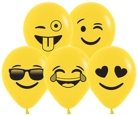 Emoji Faces Balloons - 5 inch