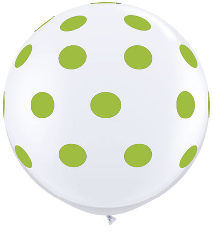 Polkadot Jumbo Balloon- Lime