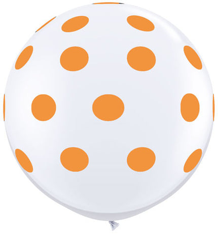 Polkadot Jumbo Balloon- Orange
