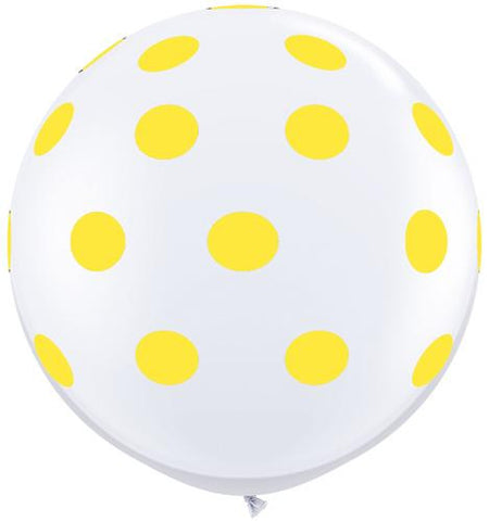 Polkadot Jumbo Balloon- Yellow
