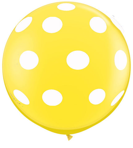 Polkadot Jumbo Yellow Balloon