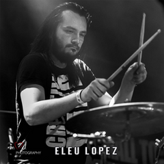 Eleu Lope Drummer Playing Live Drums