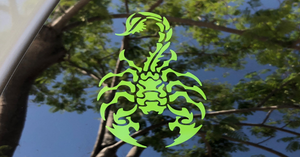 Scorpion Percussion Bass Drum / Window Decal