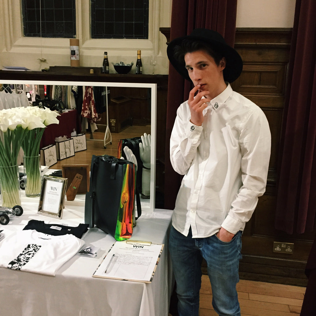 Founder: George David Hodgson at the MDC Stand at Winchester Fashion Week 2016