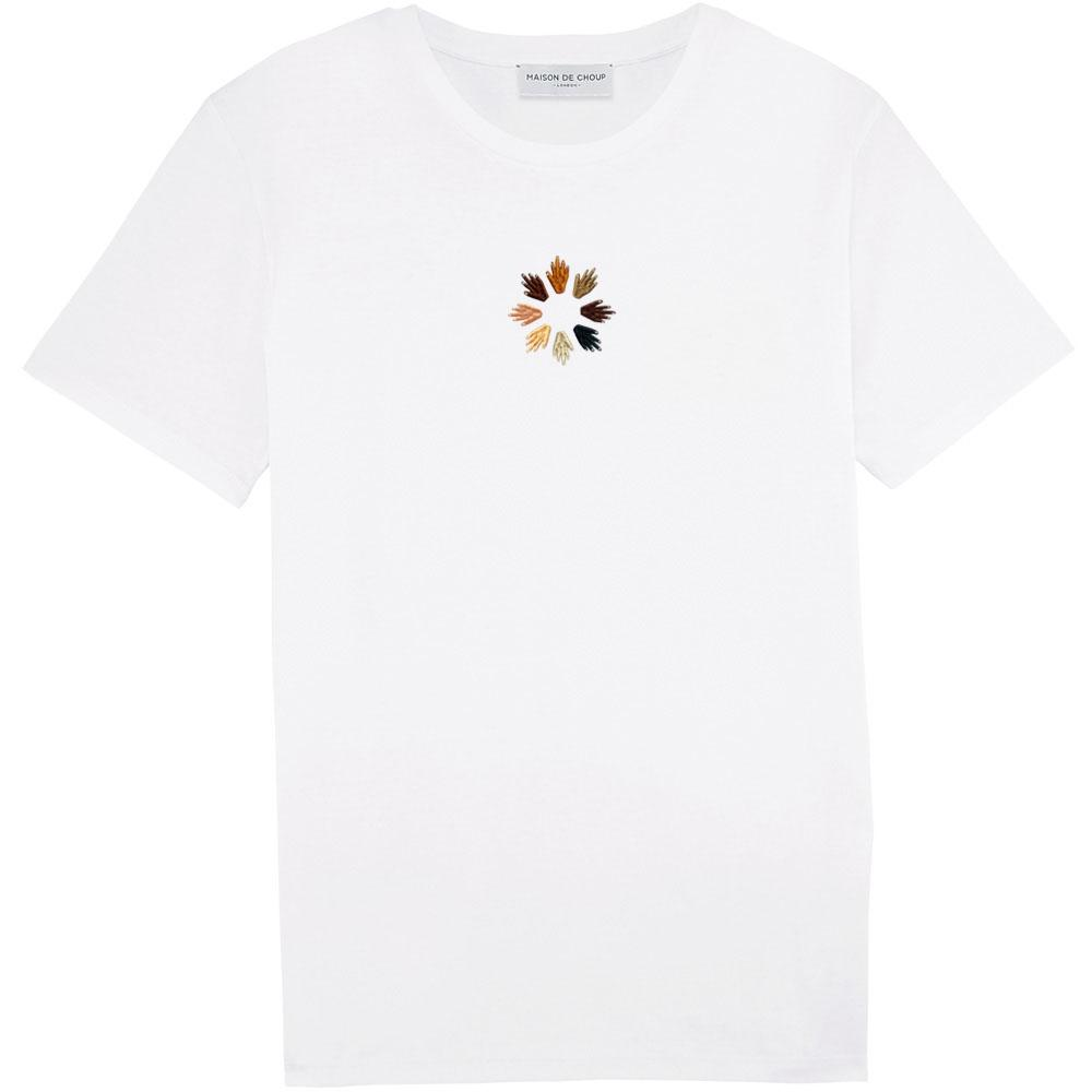 reaching out (embroidered) tee