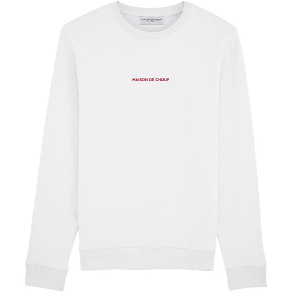 Maison de Choup Sweatshirt White Embroidered Sweatshirt - Maison de Choup