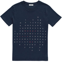 Load image into Gallery viewer, words fail me tee - navy blue