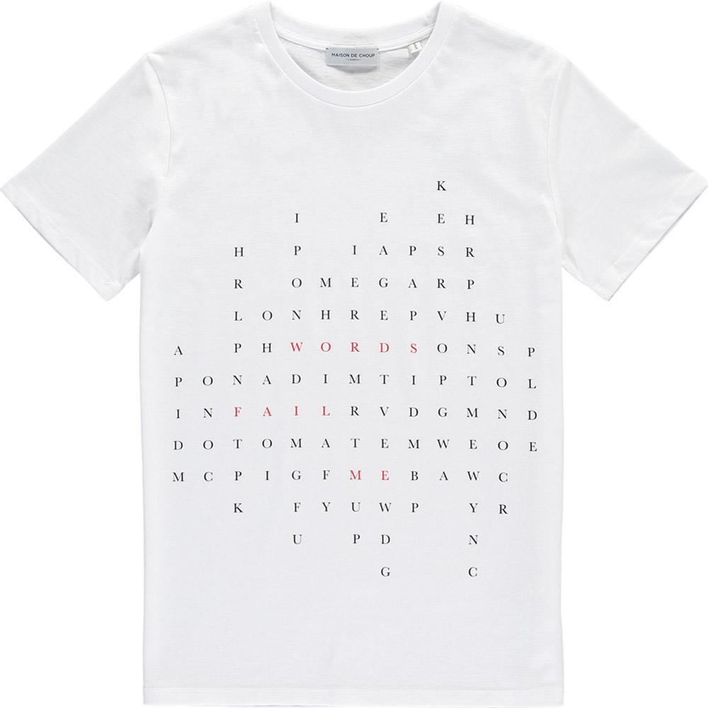 Maison de Choup T-Shirt Words Fail Me T-Shirt - White