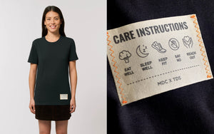 care instructions tee