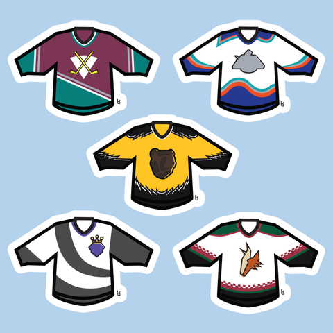 '90s Mini-Jerseys Stickers