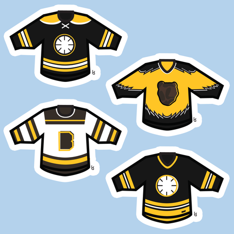 Boston Mini-Jerseys Stickers