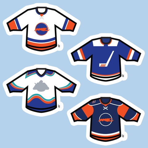 Long Island Mini-Jerseys Stickers