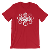 Red and White Octopus