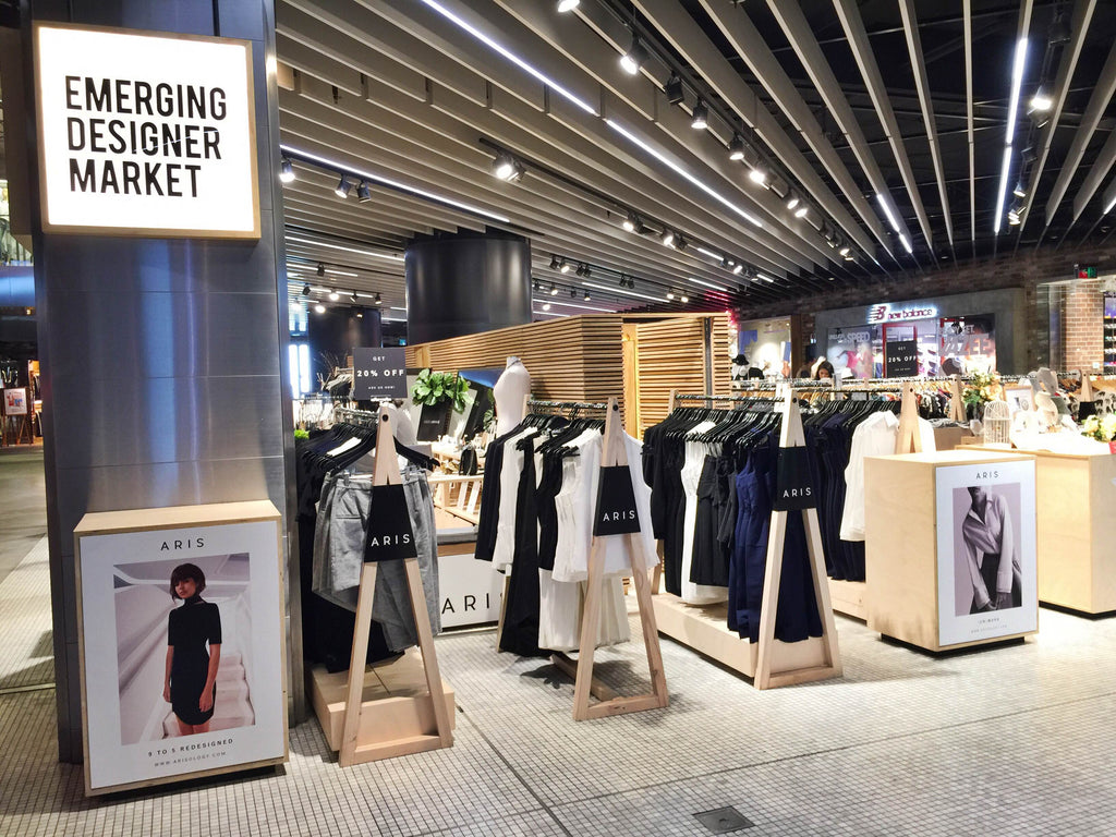 Sydney fashionable workwear pop-up shop
