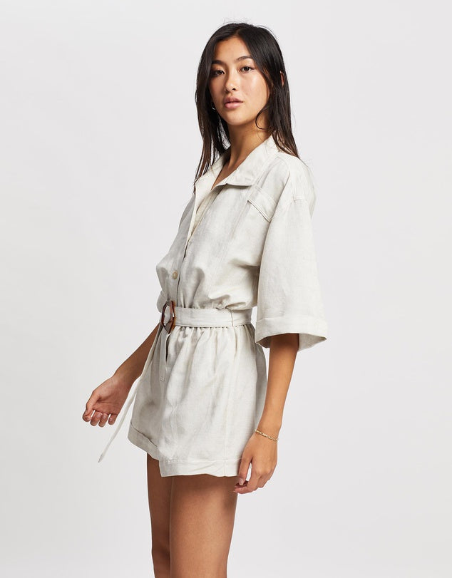 Collared Linen Playsuit