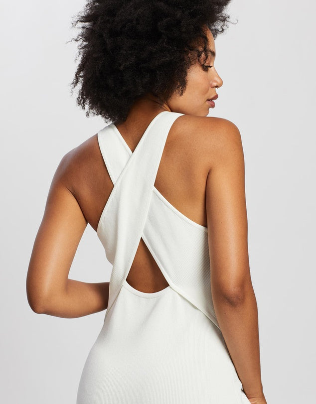 Cross Back Knit Dress