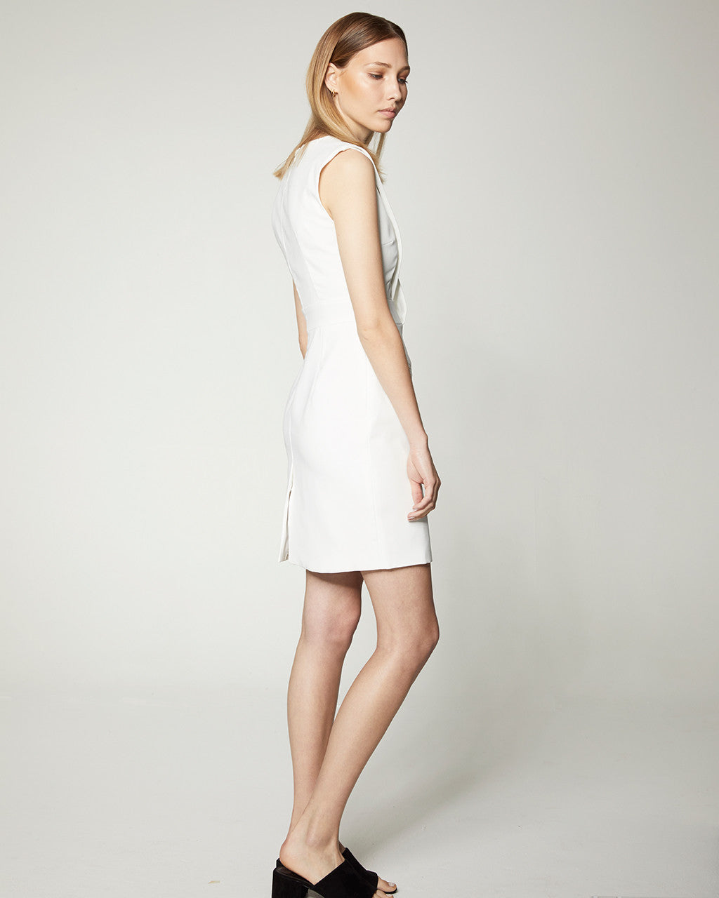 Crossover Dress - White