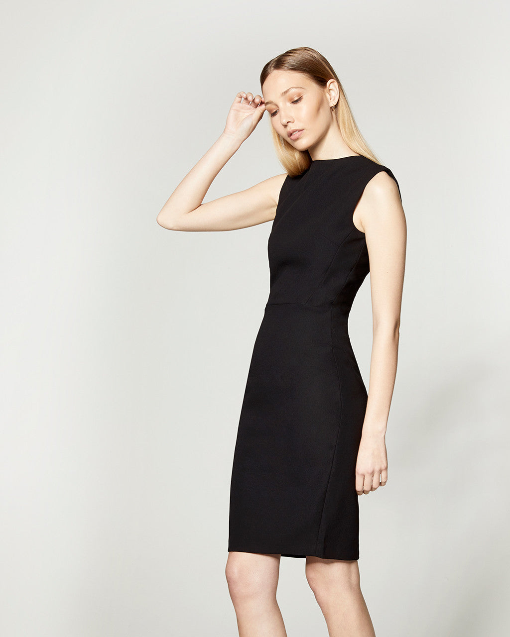 Fitted Long Zip Dress - Black - V. 2.0