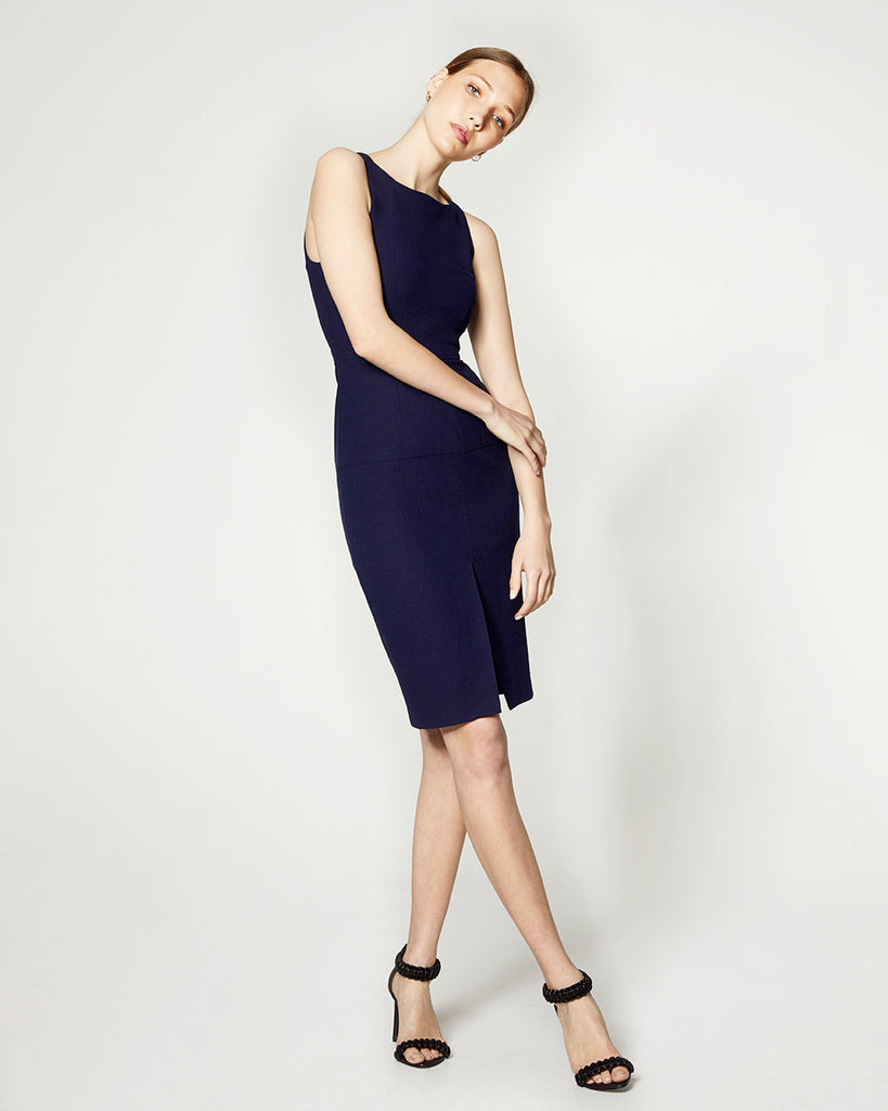 Halter Dress - Navy