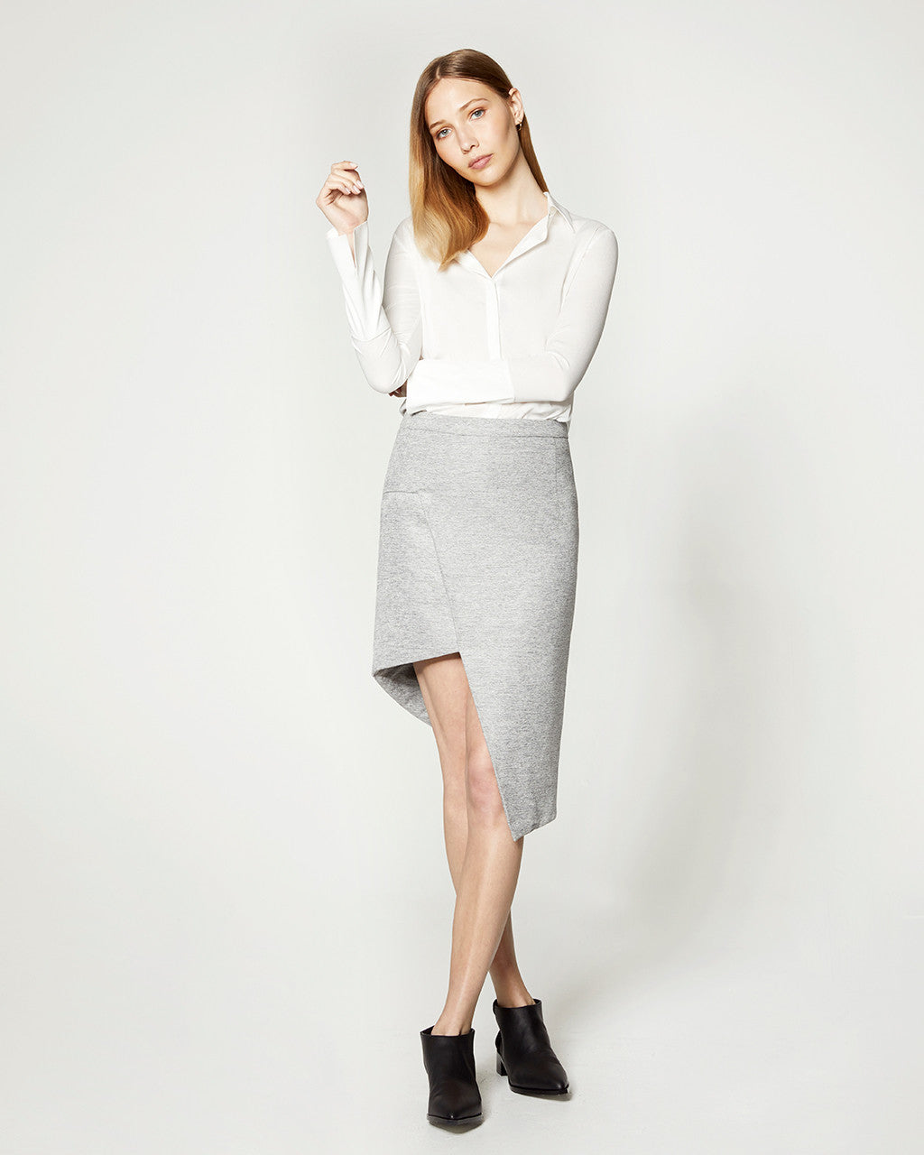Samples & Seconds - Staggered Skirt - Grey