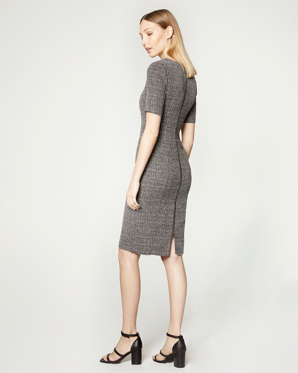 Twill Mid Sleeve Dress