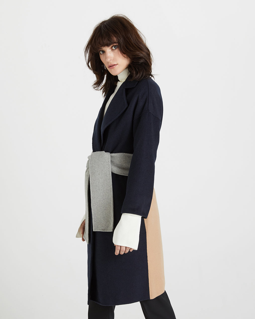 HANDSTITCHED BLOCK COAT