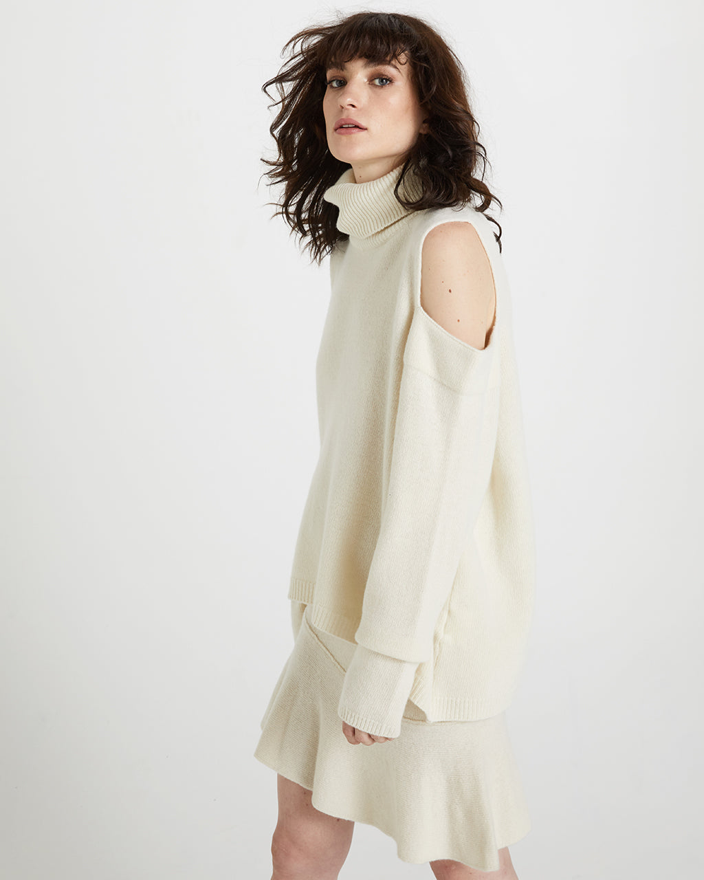 Samples & Seconds - Cold Shoulder Knit Top - Cream
