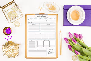 Free Party Planning Printable!
