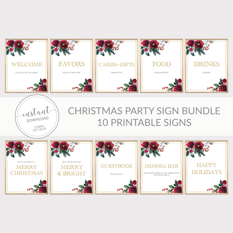 Christmas Party Sign Bundle