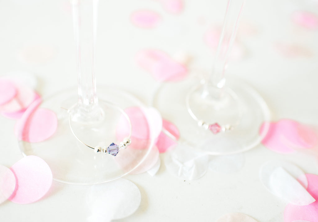 INTRODUCING our swarovski crystal stemware charms