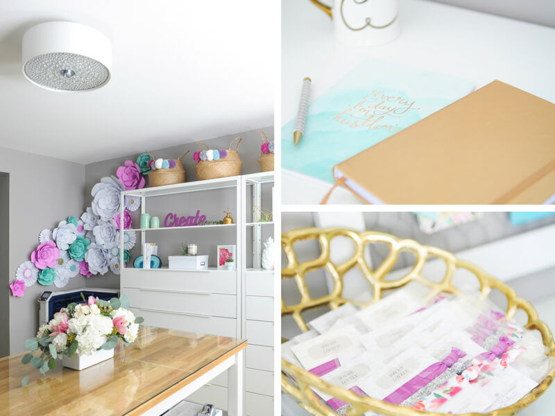 Plum Polka Dot Studio, filled with vibrant colors and storage space