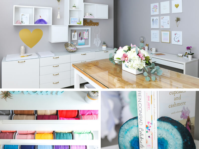Drawers to filled with the rainbow of elastics and beautiful decors
