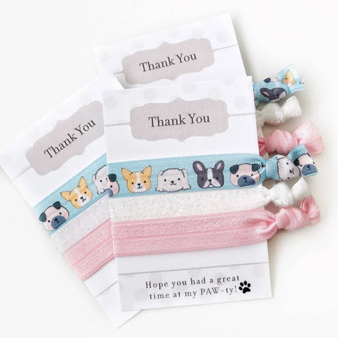 Puppy Themed Hair Ties