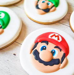 video game mario cookies birthday party