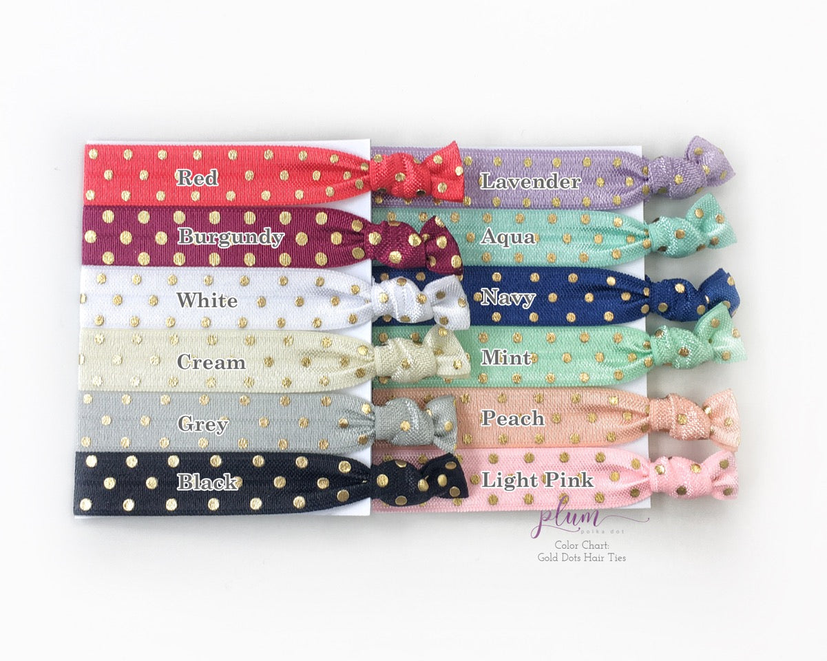 Bridesmaid Proposal Hair Ties - @PlumPolkaDot