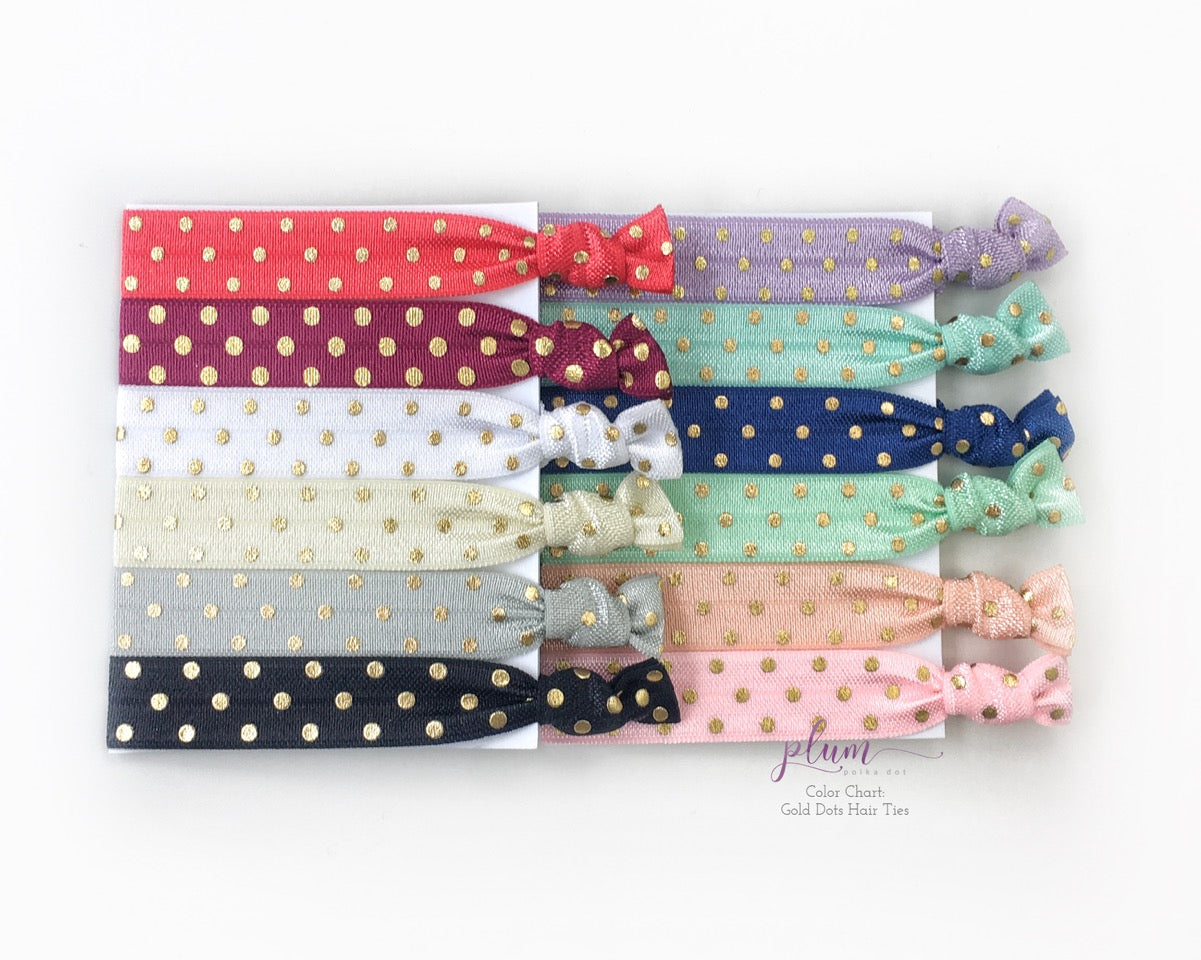 Polka Dot, Glitter & Floral Hair Tie Favors - Hair Accessories for Any Occasion - @PlumPolkaDot