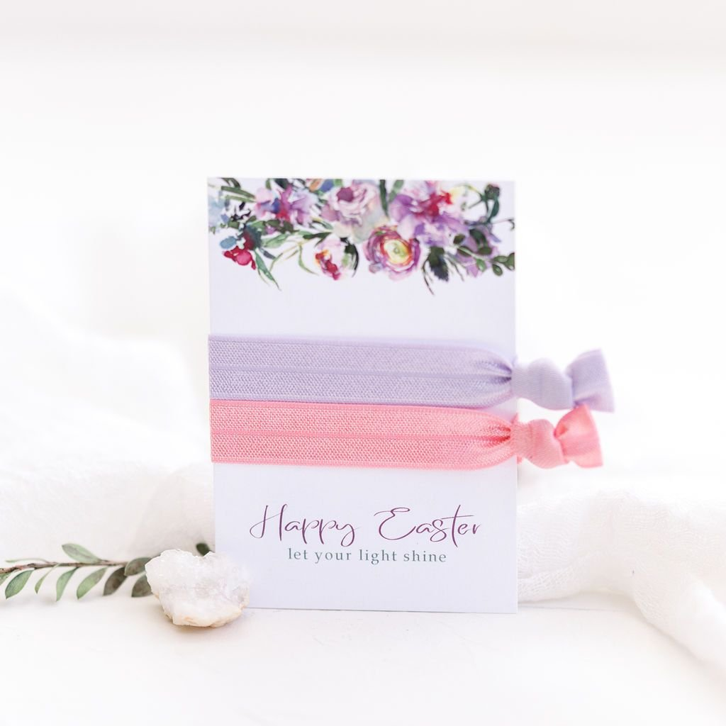 Easter Party Favors - Easter Basket Stuffers - Hair Ties - @PlumPolkaDot