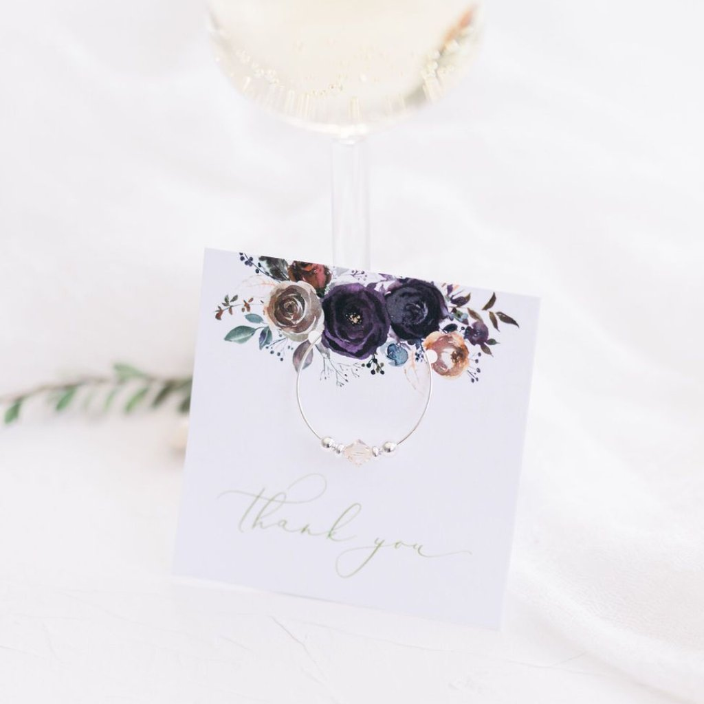 Winter Wedding Favors - Rustic - Boho - Bridal Shower - Bachelorette - Stemware Charms - @PlumPolkaDot