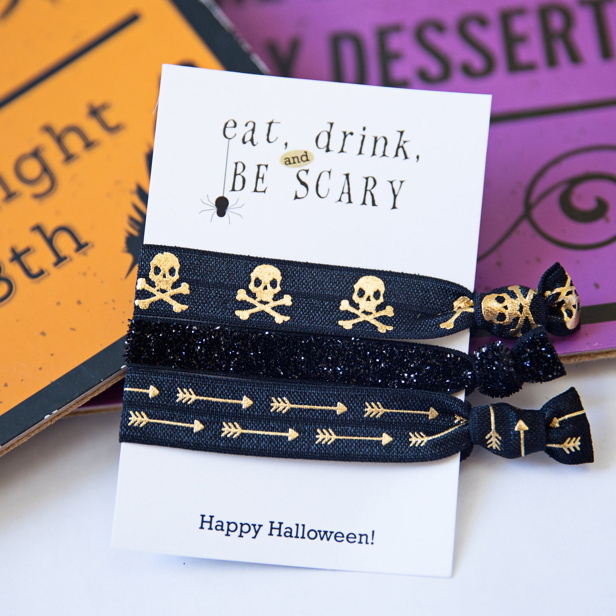 Halloween Party Supplies - Spooky Black Skulls - Class Favors - @PlumPolkaDot