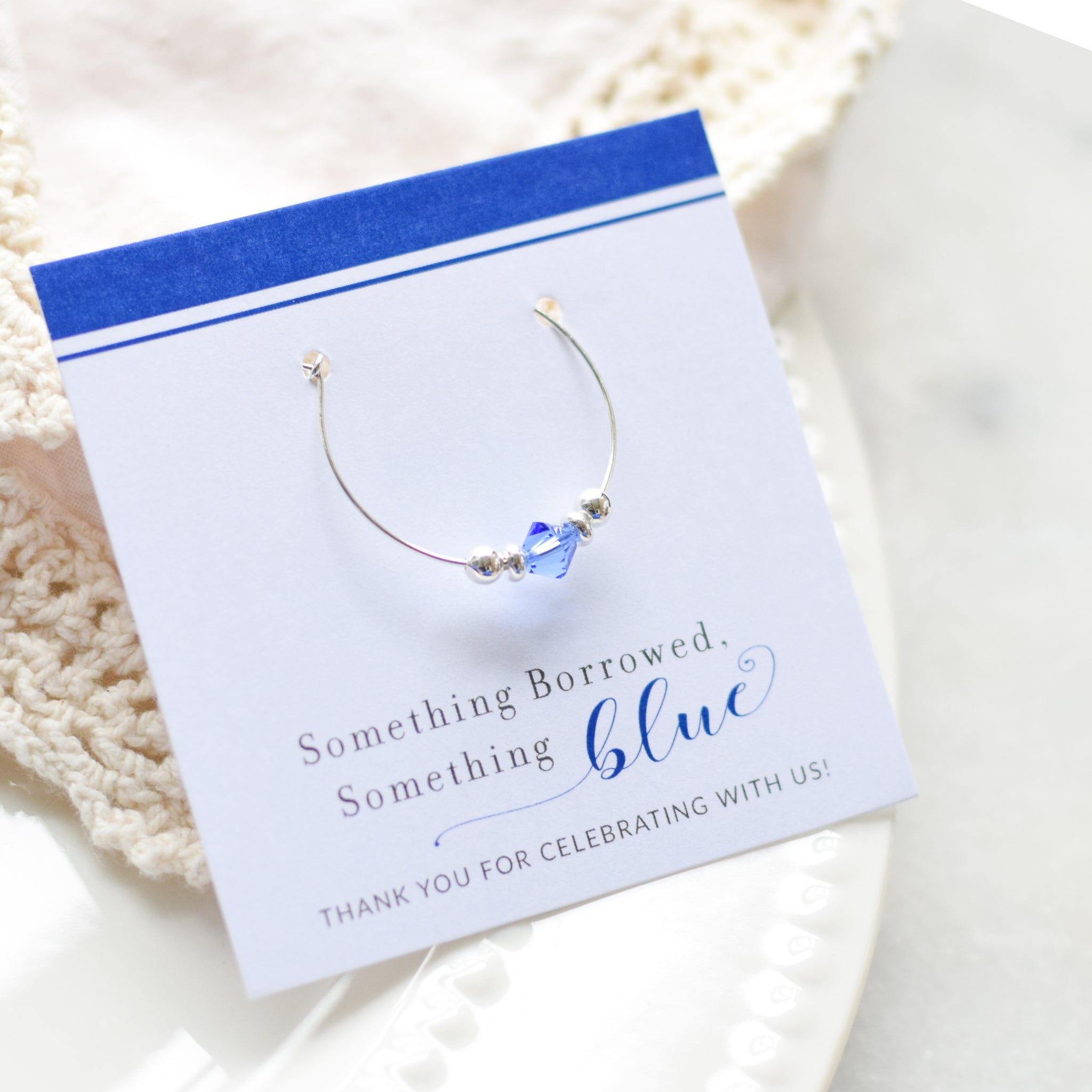 Something Blue Bridal Shower and Bachelorette Party Favors - Stemware Charms - @PlumPolkaDot