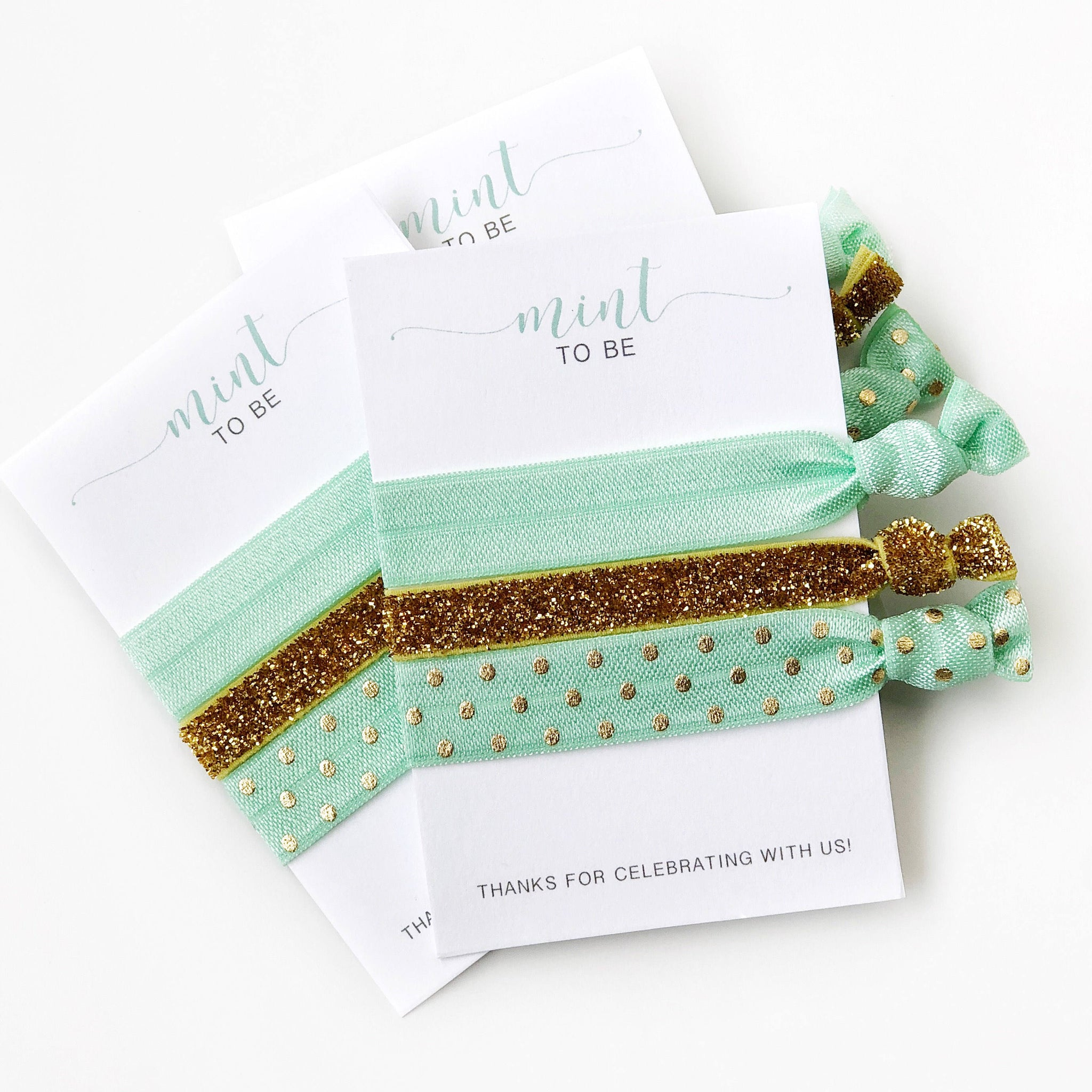 Mint to Be Bridal Shower and Baby Shower Favors - @PlumPolkaDot
