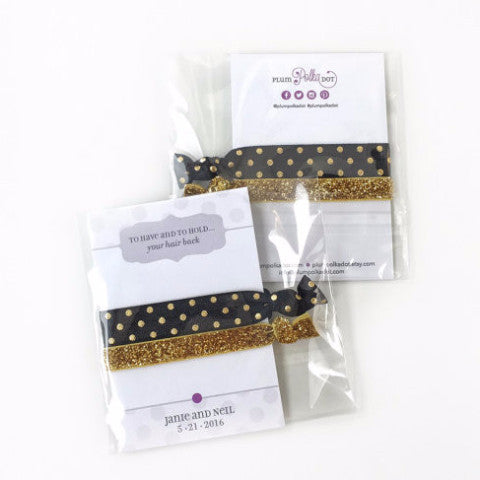 Black & Gold Hair Ties - Fashion - Style - Arm Candy - Gift for Women - @PlumPolkaDot