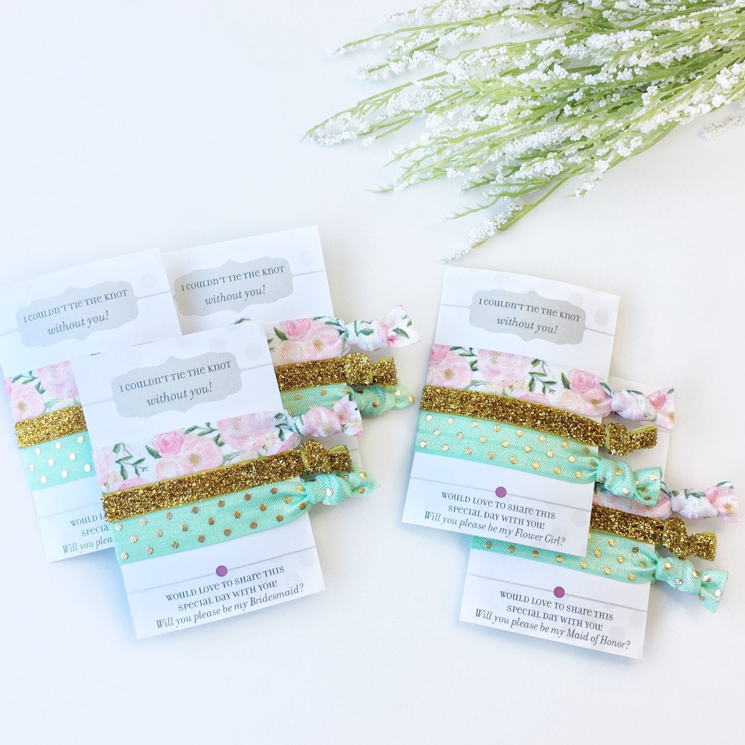 Will You Be My Bridesmaid Hair Ties - @PlumPolkaDot