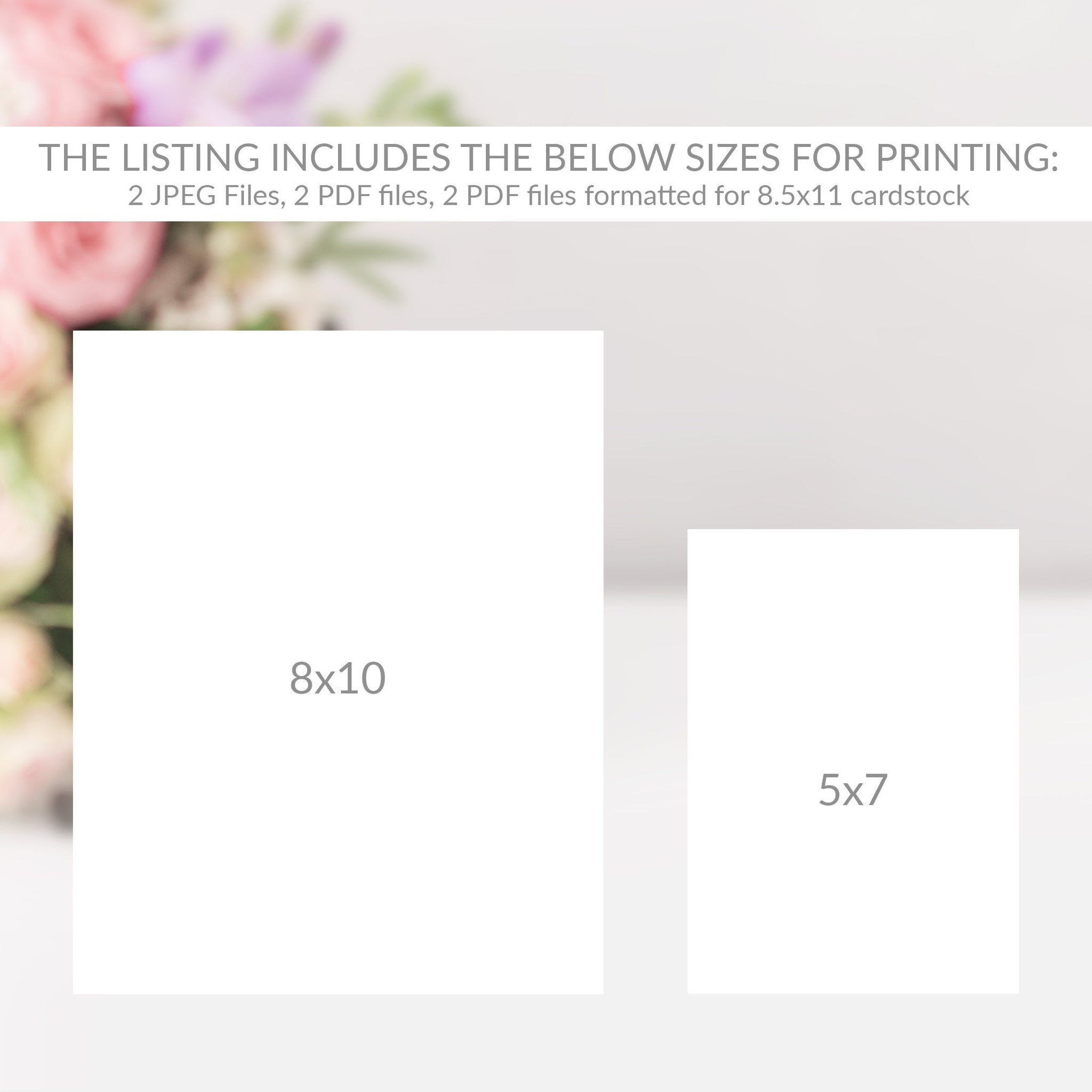 Baby Shower Address an Envelope Sign, Baby Shower Signs Printable, Floral Baby Shower Decorations, DIGITAL DOWNLOAD - FR100 - @PlumPolkaDot