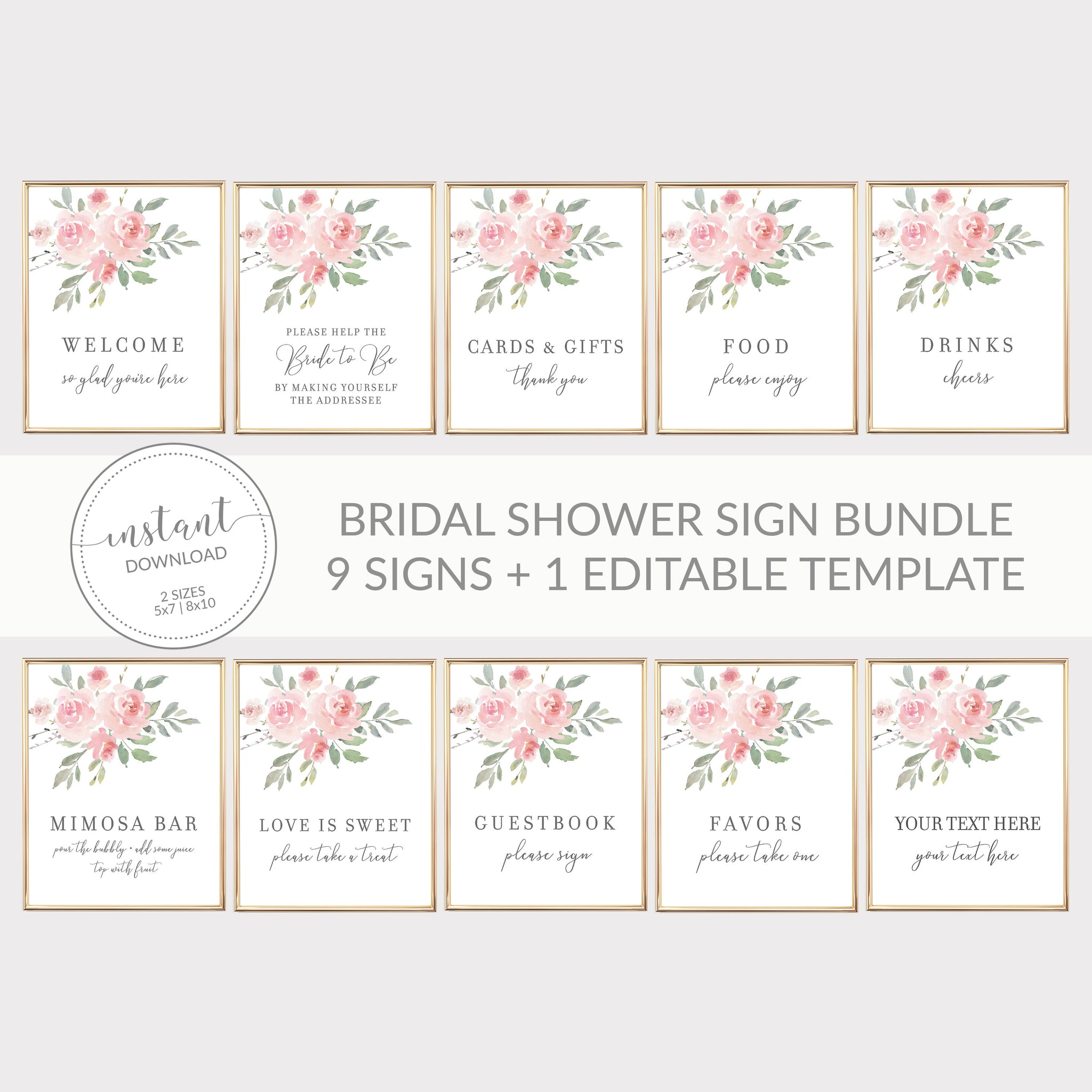 It is an image of Printable Bridal Shower Signs within memory lane
