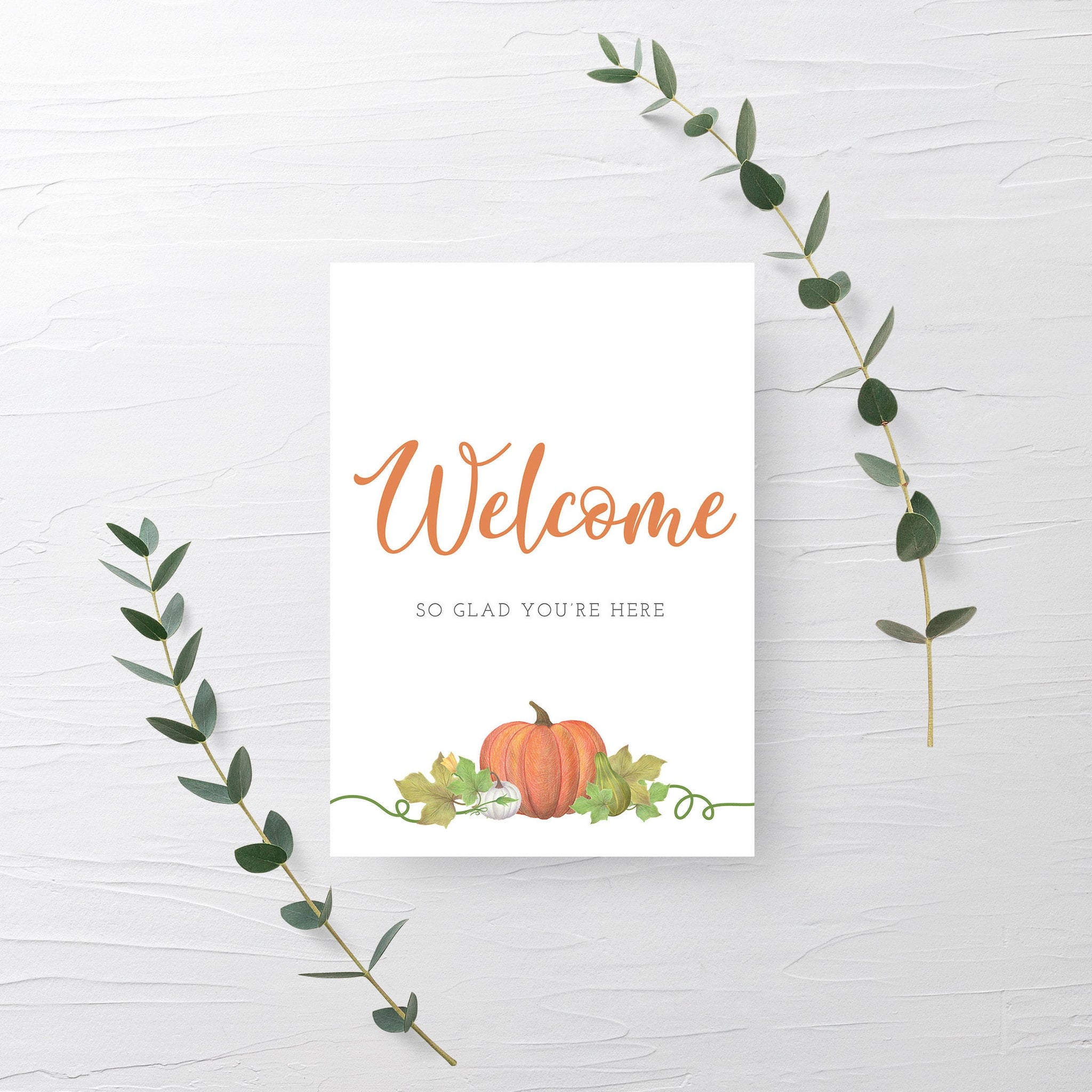 Little Pumpkin Baby Shower Welcome Sign Printable, Pumpkin Birthday Sign, Pumpkin Baby Shower Decorations, INSTANT DOWNLOAD - HP100 - @PlumPolkaDot