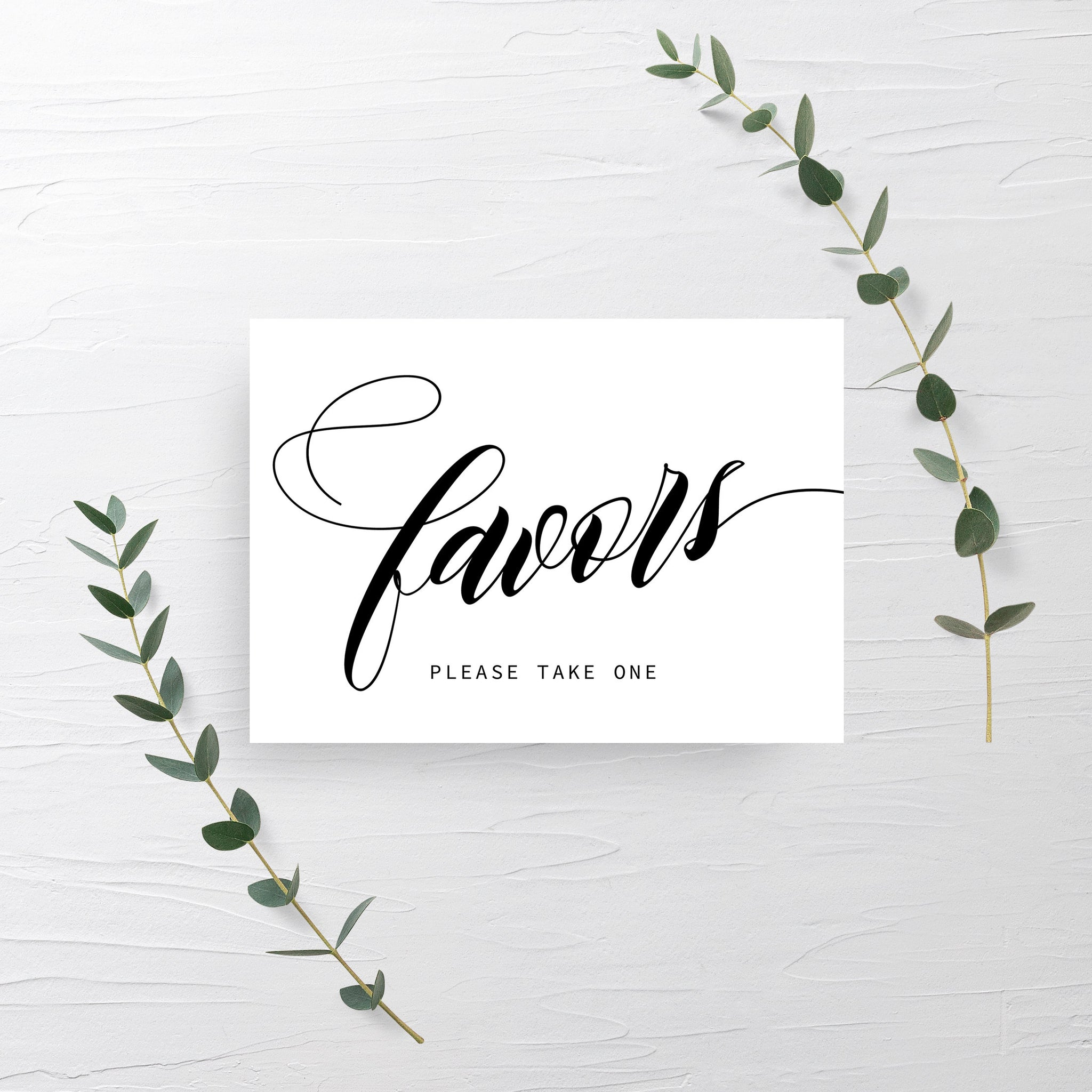 Wedding Favor Sign, INSTANT DOWNLOAD, Minimalist Wedding Signs Printable, Bridal Shower Decor, Baby Shower Favors Sign Printable - SFB100 - @PlumPolkaDot