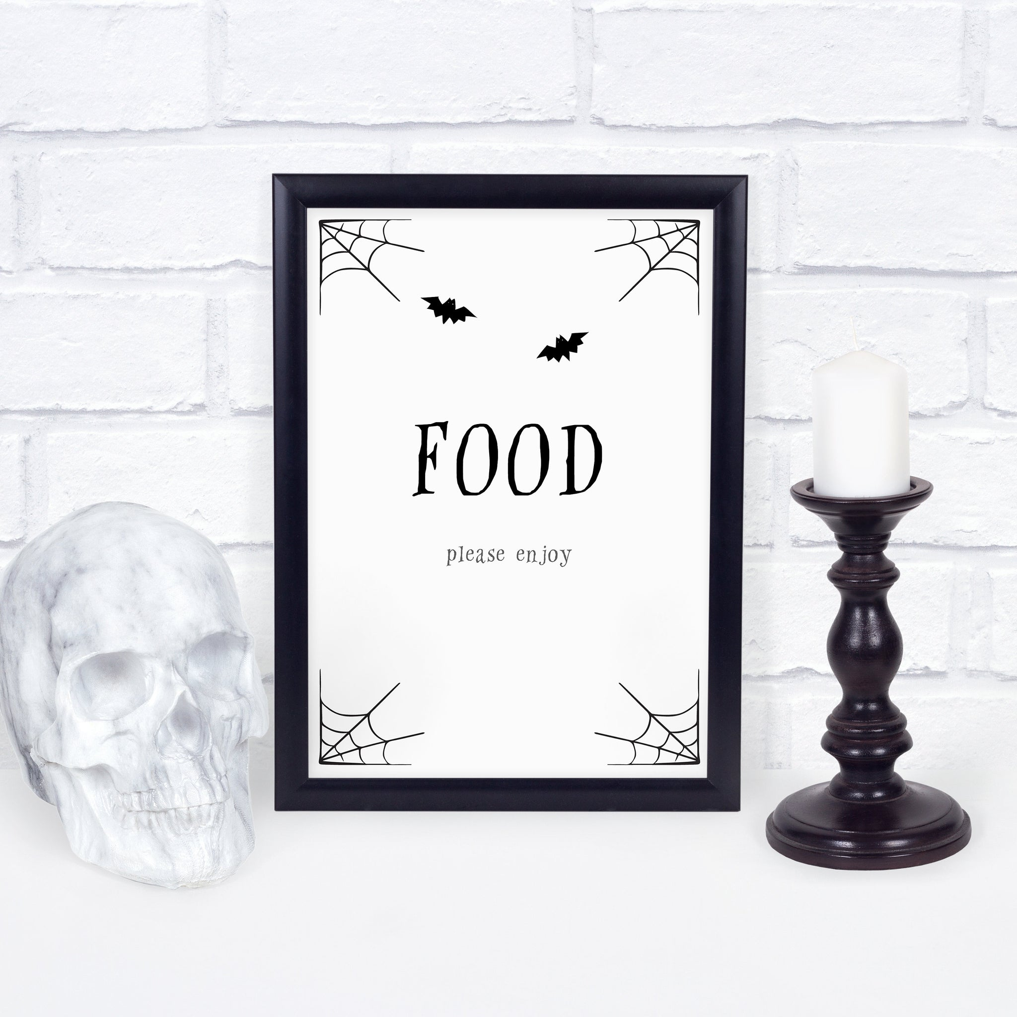 Halloween Party Food Sign, Halloween Brunch Sign, Halloween Party Decorations and Supplies - INSTANT DOWNLOAD - EDS100 - @PlumPolkaDot