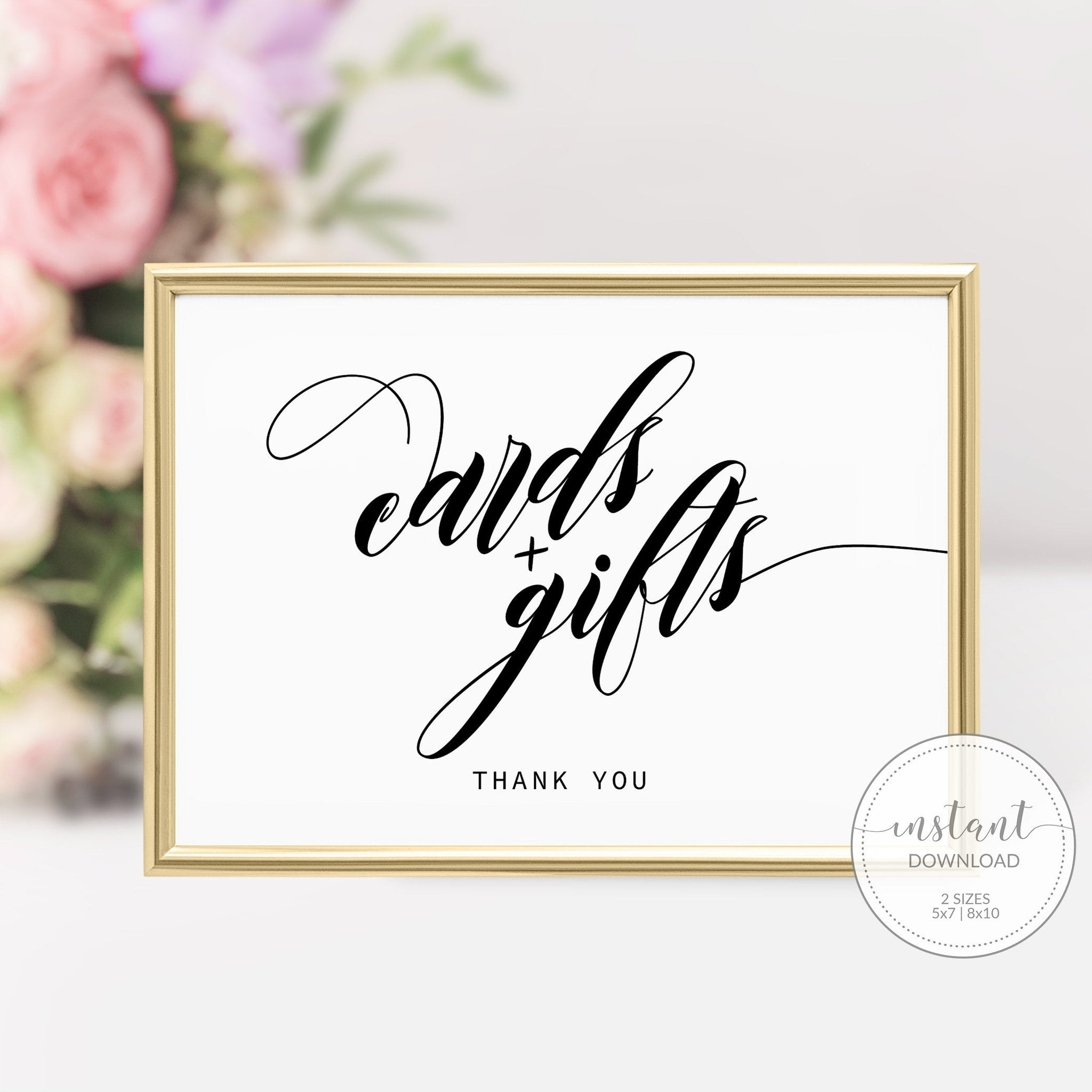 Cards and Gifts Sign, INSTANT DOWNLOAD, Wedding Sign Cards and Gifts, Bridal Shower Decor, Baby Shower Gift Table Sign Printable - SFB100 - @PlumPolkaDot