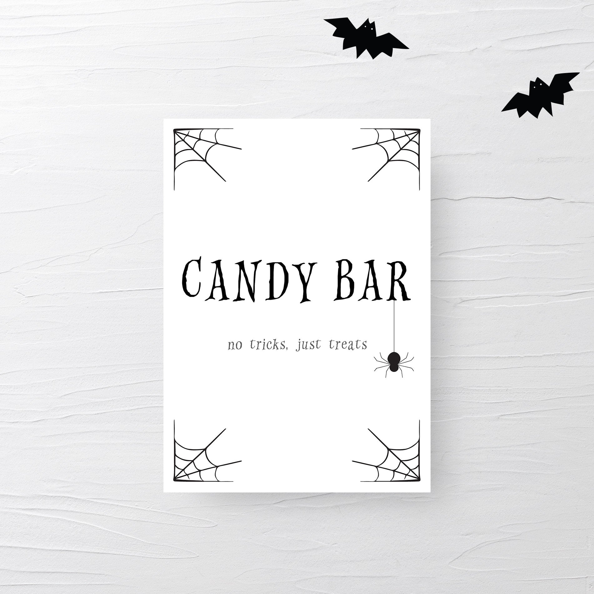Halloween Candy Bar Sign, Halloween Decorations Printable Sign, Halloween Party Decor, Trick or Treat Sign, INSTANT DOWNLOAD - EDS100 - @PlumPolkaDot